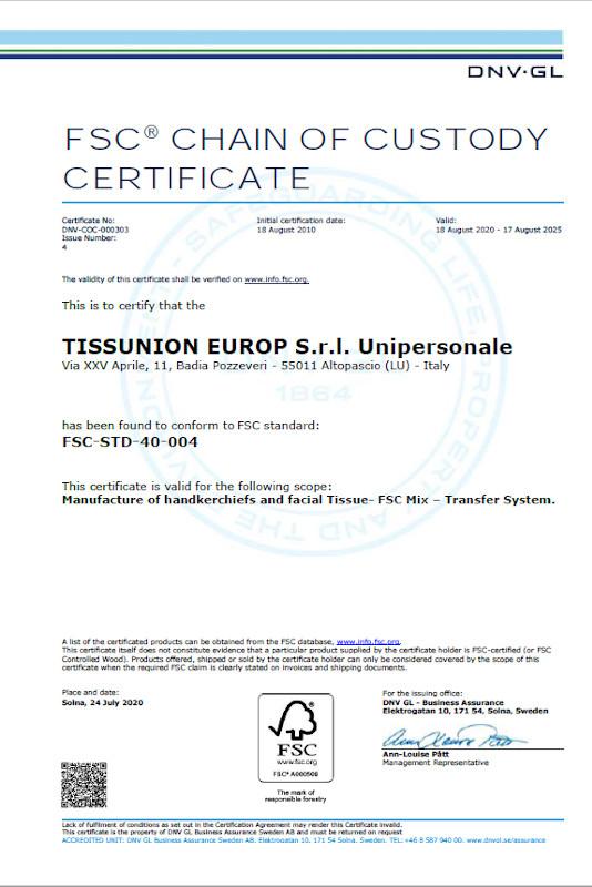 FSC to 2021 Certificate