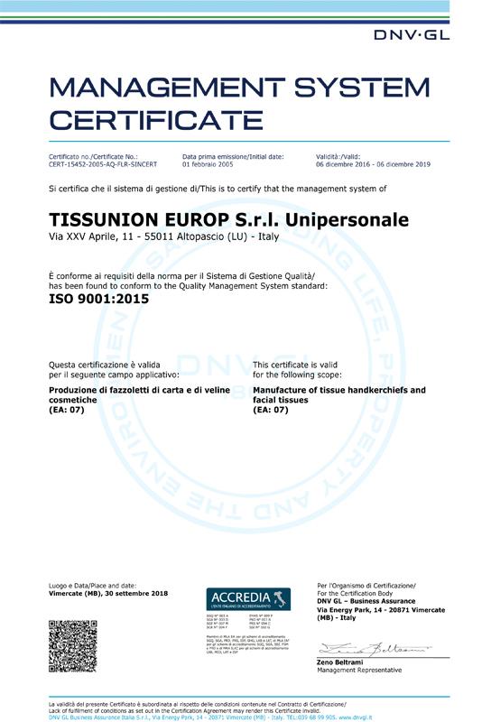 Certificato DNV_UNI_EN_ISO 9001.2015 scad 2019.12